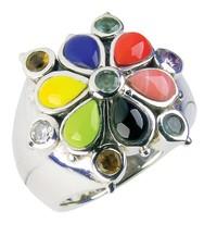 Silberringe mit anderen Steinen wie Emaille, Granat usw.