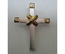Anhänger Kreuz Silber Zirkonia W66113