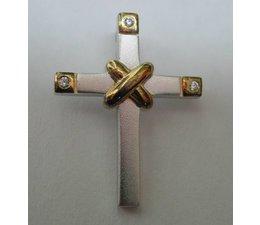 Anhänger Kreuz Silber Zirkonia rhod. W66113