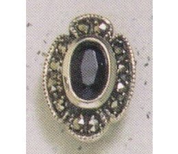 Ohrring Markasit Silber Aquamarin P1157