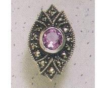 Ohrring Markasit Amethyst P1163