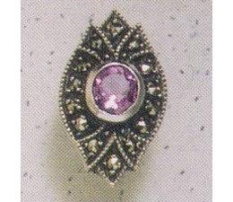 Ohrring Markasit Silber Amethyst P1163