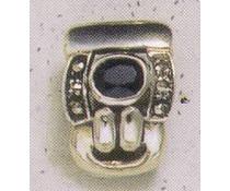 Ohrring Markasit Onyx P1166