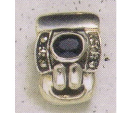 Ohrring Markasit Silber Onyx P1166