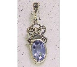 Ohrring Markasit Silber Onyx P1226