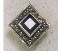 Ohrring Markasit Onyx  P1263