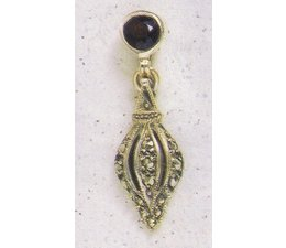 Ohrring Markasit Silber Onyx oder Granat P1319