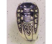 Ohrring Markasit synth. Aqua  oder Onyx P1289
