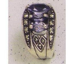 Ohrring Markasit Silber mit synth. Aqua oder Onyx P1289