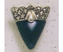 Ohrring Markasit Onyx oder Perlmutt oder Carneol P1841