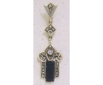 Ohrring Markasit Onyx / Opal P1880
