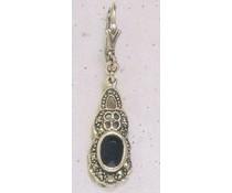 Ohrring Markasit Peridot, synth. Aqua, Onyx, Amethyst oder Opal P1268