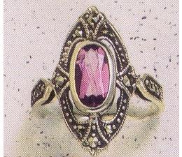 Ring Markasit Silber mit Amethyst P1028