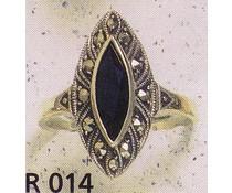 Ring Markasit Onyx oder synth. Aqua P1034