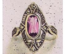 Ring Markasit  Peridot  P1037 - Abverkauf