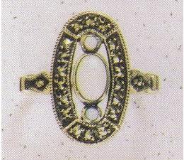 Ring Markasit Silber mit Amethyst oder Opal oder Granat oder Onyx P1099