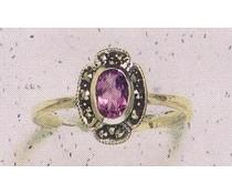 Ring Markasit Opal synth. Aqua Onyx Amethyst Granat Peridot P1077