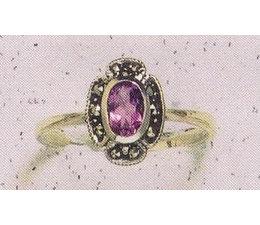 Ring Markasit Silber mit Opal synth. Aqua Onyx Amethyst Granat Peridot P1077