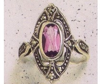 Ring Markasit  synth. Aqua P1038
