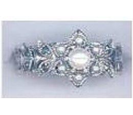 Ring Silber Markasit Fresh Water Pearl P1005