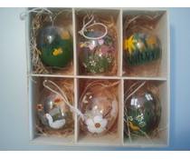 Eier Glas Ostern 6 Stück