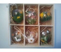 Eier Glas Ostern 6 Stück im Set