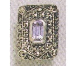 Ohrring Silber 925 Markasit synth. Aqua