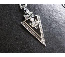 Collier Onyx Opal Markasit Silber 925