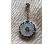 Ohrringe Markasit Perlmutt Silber 925 1616