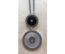 Collier Onyx Perlmutt Silber 925 1631