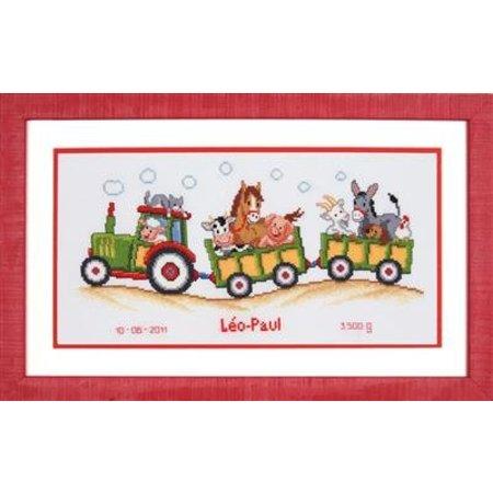 Vervaco Borduurpakket Tractor met dieren