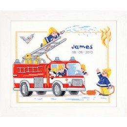 Vervaco Borduurpakket Brandweerauto