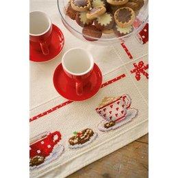 Vervaco Borduurpakket tafelkleed op de koffie