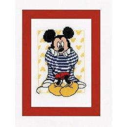 Vervaco Borduurpakket Mickey kleedt zich aan