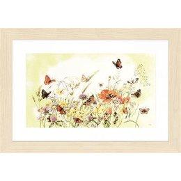 Lanarte Borduurpakket Marjolein Bastin bloemen en vlinders