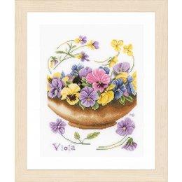 Lanarte Borduurpakket Marjolein Bastin  viooltjes
