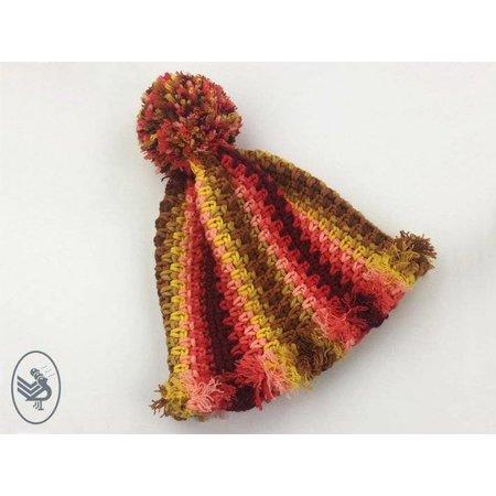 Durable Haakpakket: Autumn Red shawl & muts