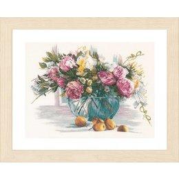 Lanarte Borduurpakket stilleven van bloemen