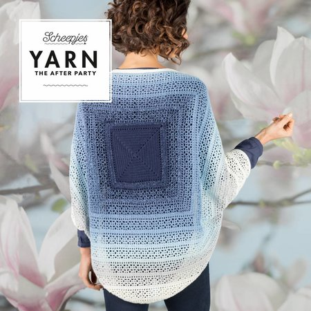 Scheepjes Yarn afterparty 27 Indigo Shrug