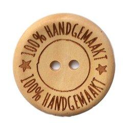 Houten knoop - 100% handgemaakt - 20 mm