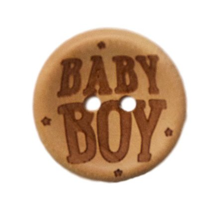 Houten knoop - Baby boy - 20 mm