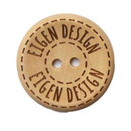 Houten knoop - Eigen design - 20 mm