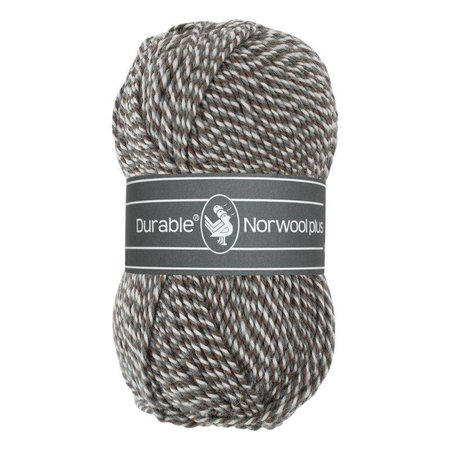 Durable Norwool Plus bruin/grijs/wit (M04932)