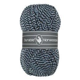 Durable Norwool Plus zwart/blauw/wit (M00235)