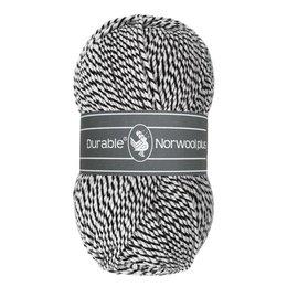 Durable Norwool Plus zwart/wit (M000)