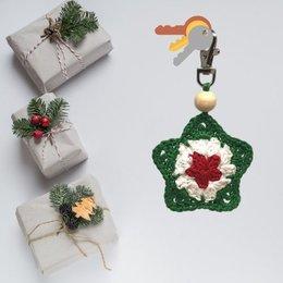 Haakpatroon Kerstster hanger