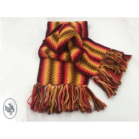 Durable Haakpatroon Autumn Red shawl