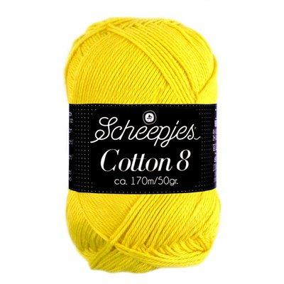 Scheepjes Cotton 8 - 551 - kanariegeel
