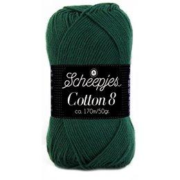 Scheepjes Cotton 8 - 713 - donkergroen
