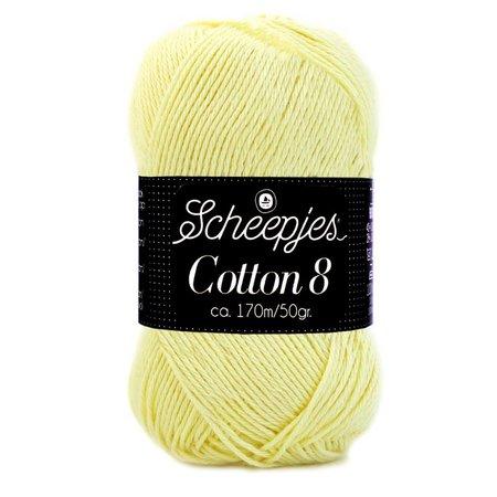 Scheepjes Cotton 8 - 508 - lichtgeel